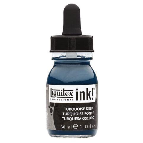 Liquitex Ink 30ml Turquoise Deep Blue