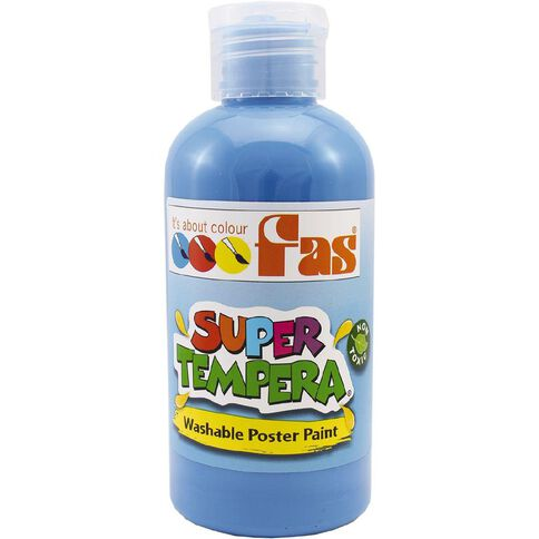 FAS Paint Super Tempera 250ml Fluoro Blue Blue 250ml