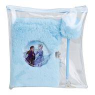 Frozen Disney Fluffy Notebook Lockable Set Blue Light A5