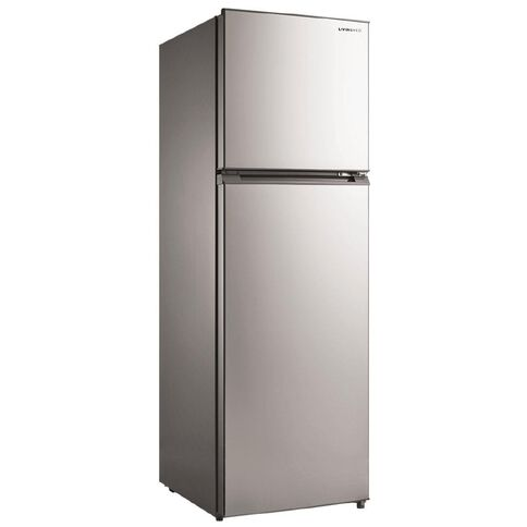 Living & Co Top Mount Fridge/Freezer 268 Litre Stainless Steel
