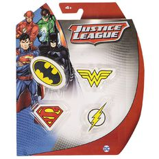 Justice League Erasers Set 4 Pack