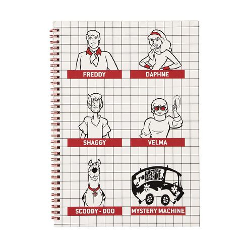 Scooby Doo Spiral Notebook All Characters White A4