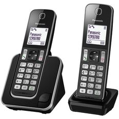 Panasonic Kx-Tgd312Nzb Twin Cordless Phone Black
