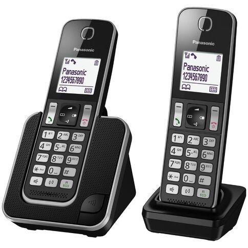 Panasonic Kx-Tgd312Nzb Twin Cordless Phone Black
