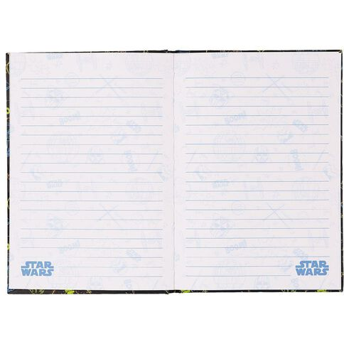 Star Wars Notebook Black with Colourful Star Wars Figures A5