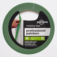 Pomona Masking Tape Professional Painters 3 Day Green 24mm x 50m