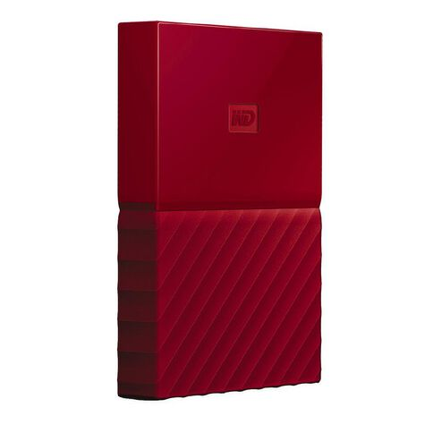 Western Digital My Passport 1TB USB 3.0 External HDD Red