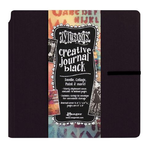 Ranger Dylusions Journal Creative Journal Black Square