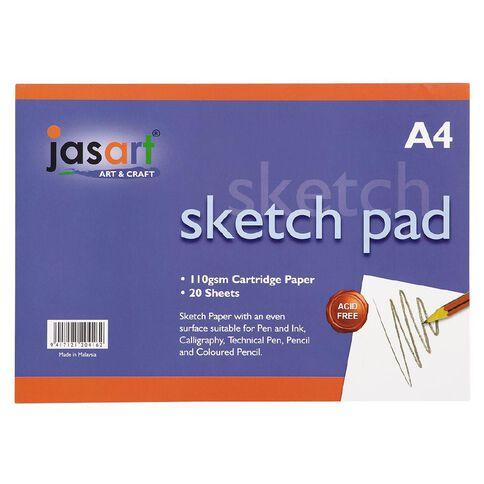 Jasart Sketch Pad 20 Sheets A4