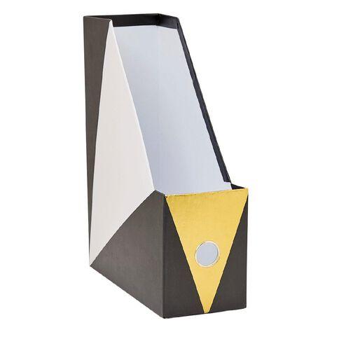 Uniti Black&Gold Magazine File with Gold Foil