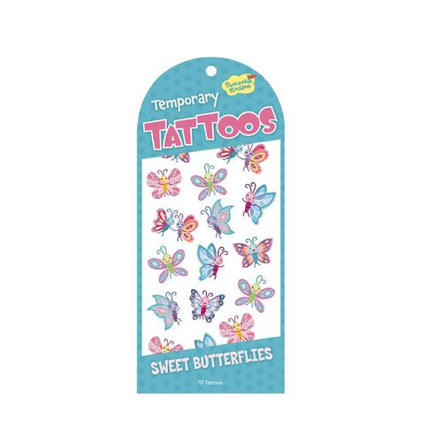 Peaceable Kingdom Stickers Temporary Tattoos Sweet Butterflies