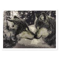 Uniti Crystal Art 30cm x 40cm Wolves