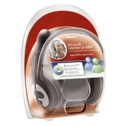 Microsoft Lifechat Lx-3000 USB Headset Black