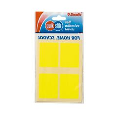 Quik Stik Labels Labels MR3545 28 Pack Fluoro Yellow