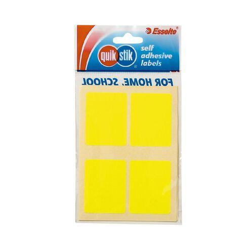 Quik Stik Labels Labels MR3545 28 Pack Fluoro Yellow