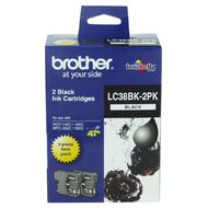Brother Ink LC38 Black 2 Pack (300 pages)
