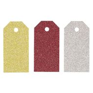 Uniti Christmas Tags Glitter 24 pack