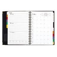 Dats Diary 2020 Week to View Spiral Tab Quarto Black