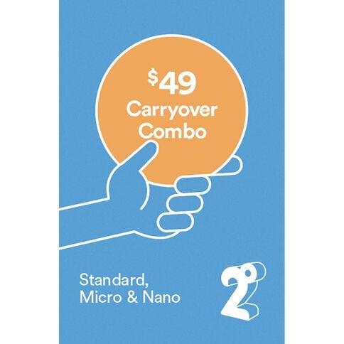 2degrees $49 Carryover Combo SIM