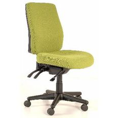 Buro Roma 3 Lever Highback Chair Green
