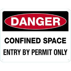Impact Danger Confined Space Sign Large  460mm x 610mm
