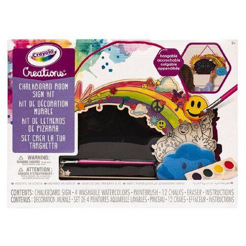 Crayola Creations Chalkboard Room Sign Kit