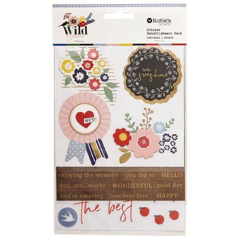 Rosie's Studio Wildflower Stickers 3 Sheets