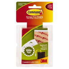 Command Sawtooth Picture Hanging Hooks Value Pack White