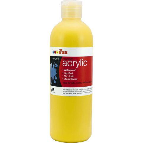 FAS Paint Student Acrylic 500ml Cool Yellow Yellow 500ml