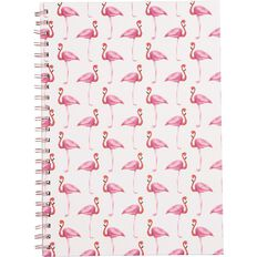 Uniti Tropical Small Flamingos Spiral Hardcover Notebook A4