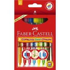 Faber-Castell Connector Twist Crayons 8 Pack Multi-Coloured