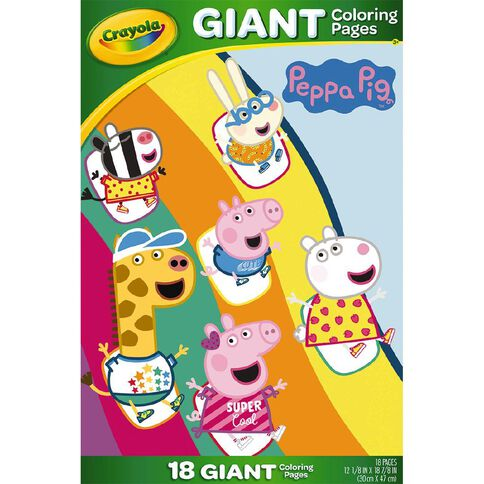 Crayola Giant Colouring Pages Peppa Pig | Warehouse ...