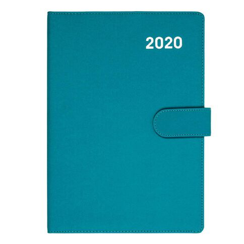 Dats Diary 2020 Week To View PU Embossed With Clasp Assorted A4