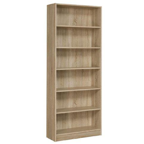 Workspace Soho 6 Tier Bookcase Oak