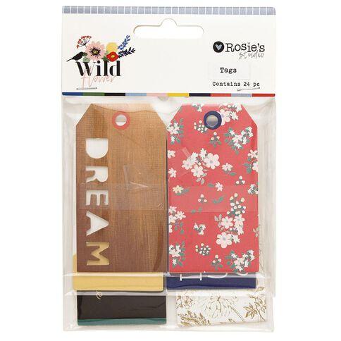 Rosie's Studio Wildflower Tags 24 Pack
