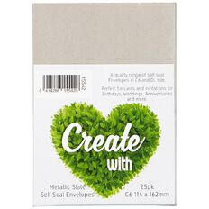 Create With C6 Envelopes 25 Pack Metallic Slate