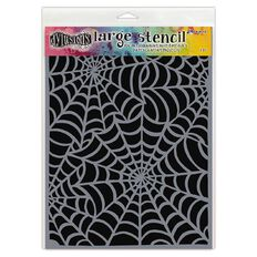 Ranger Dylusions Stencil Cobwebs Large