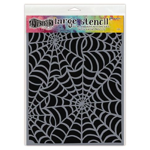 Ranger Dylusions Stencil Cobwebs Large