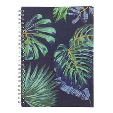 Uniti Fun & Funky Q1 Hard Cover Spiral Notebook Tropical A4