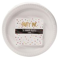 Party Inc Dinner Plates White 230mm 50 Pack