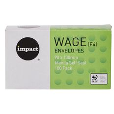 Impact Envelope E4 Wage Self Seal 100 Pack