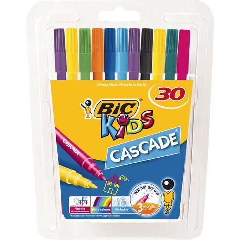 Bic Cascade Felt Tip Pen 30 Pack
