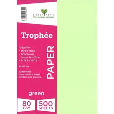 Trophee Paper 80gsm 500 Pack Green A4