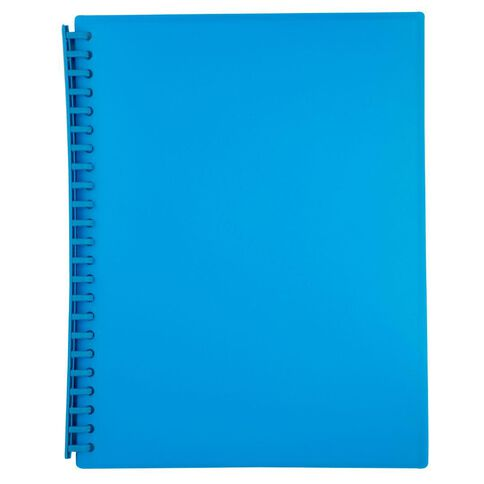 WS Clear Book Refillable 20 Leaf Blue A4