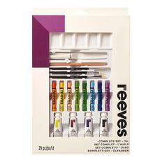 Reeves Oil Paints Complete Set White 75ml
