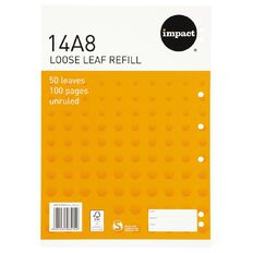 Impact Pad Refill 14A8 Blank 50 Leaf Punched Orange