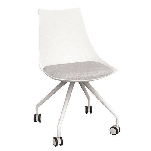 Luna White Ash Grey Chair Grey