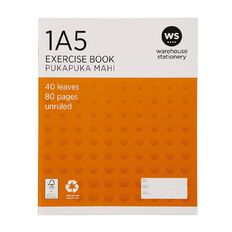 WS Exercise Book 1A5 (UB) Blank 40 Leaf Orange