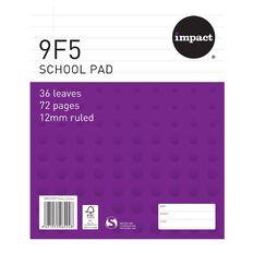 Impact Pad Refill 9F5 12mm Ruled 36 Leaf Purple