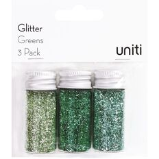 Uniti Glitter Greens 3 Pack
